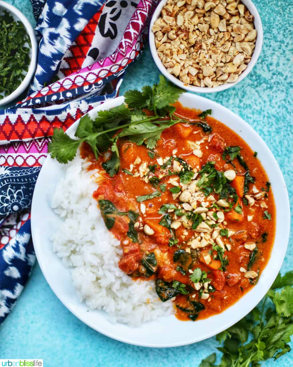 Instant Pot African Peanut Stew with bowl of peanuts