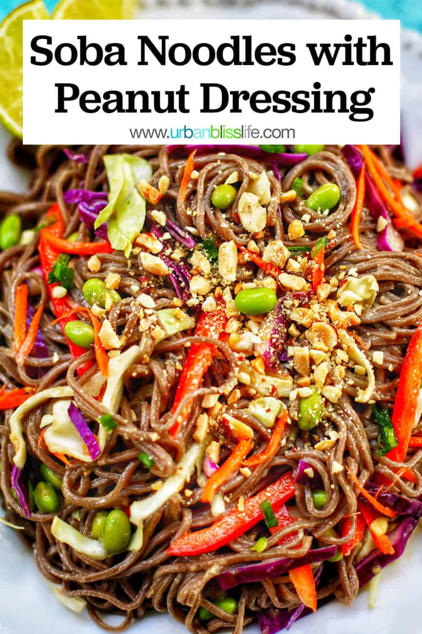 Soba Noodles with title text