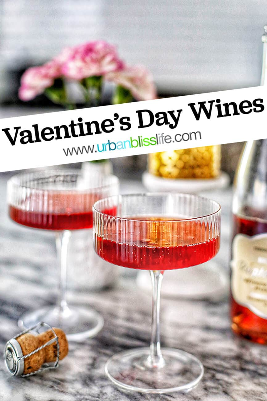 Valentine's Day Wines main image with text overlay