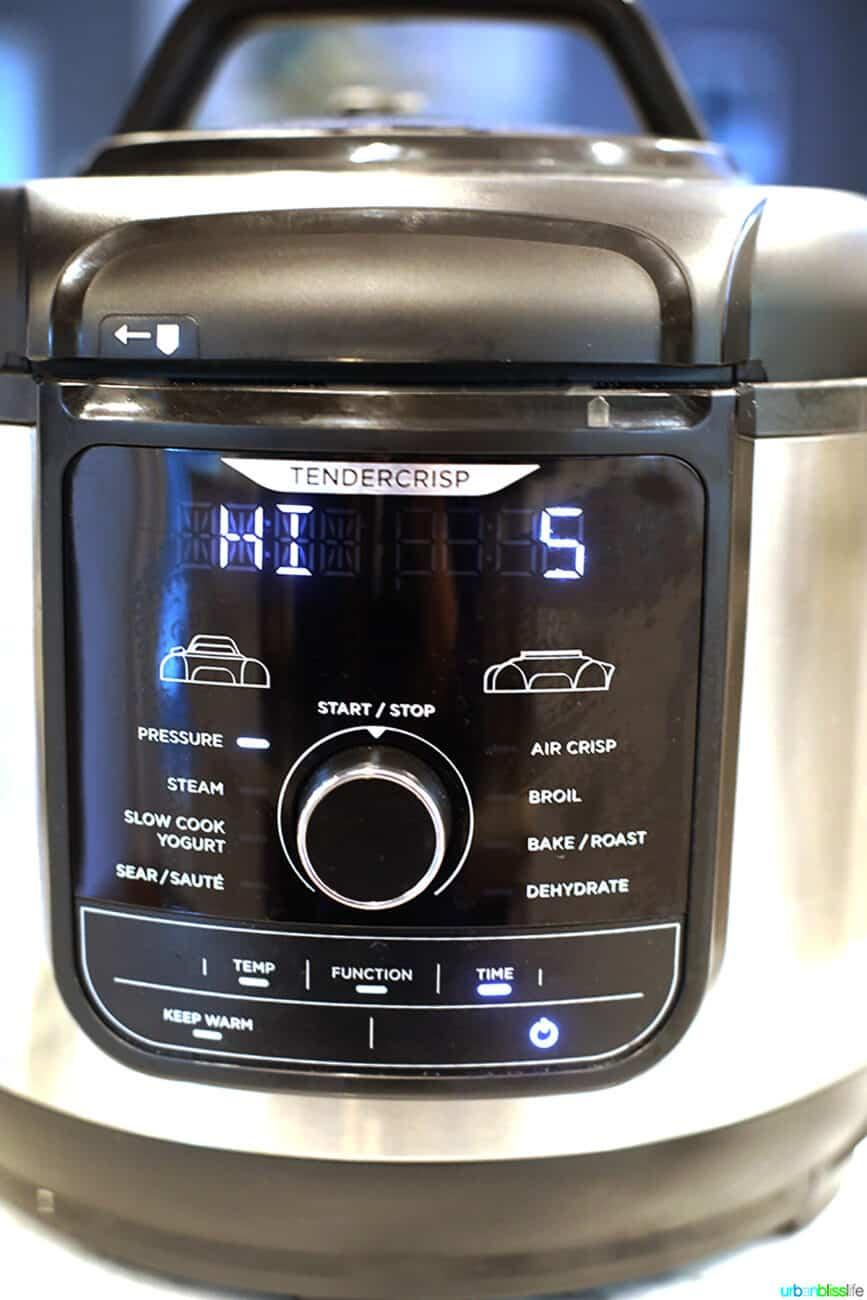 Ninja Foodi pressure cook HI 5 minutes