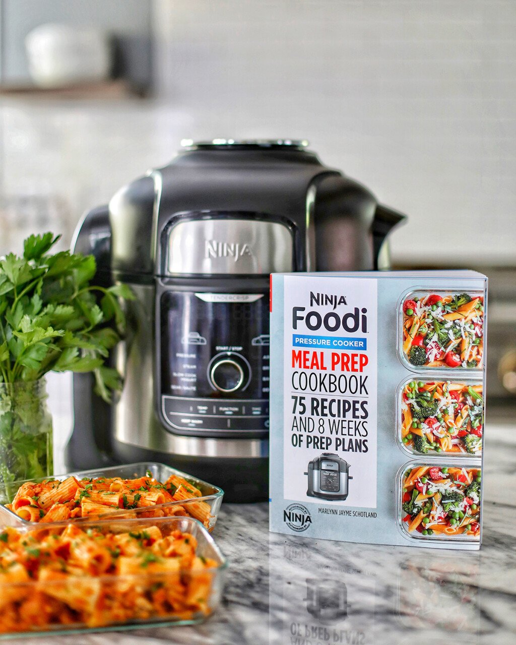 Ninja Foodi Cookbook with Foodi and pasta