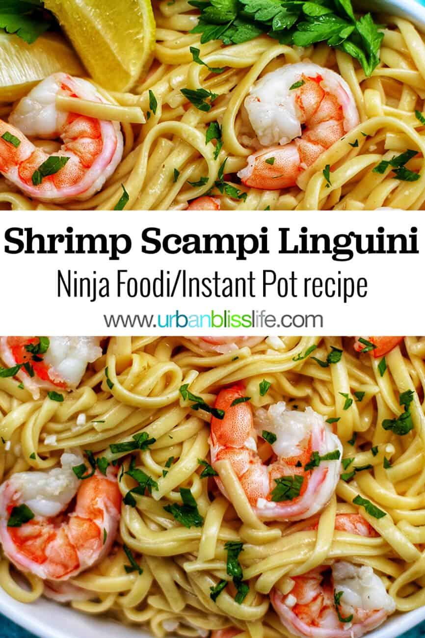 Ninja Foodi/Instant Pot Shrimp Scampi Linguini with text