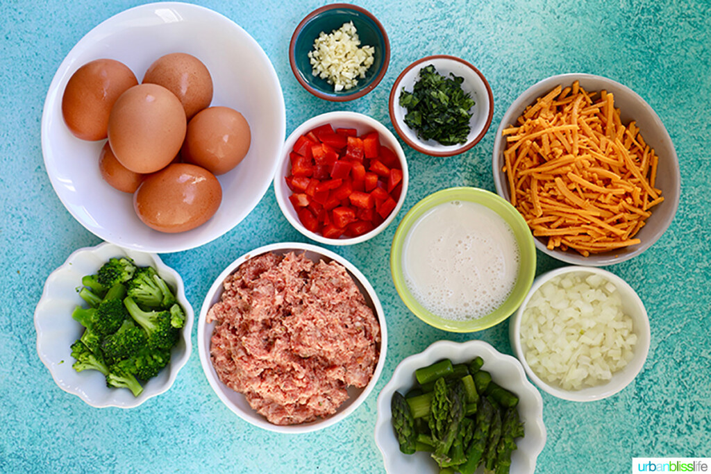 ingredients for Sausage Frittata