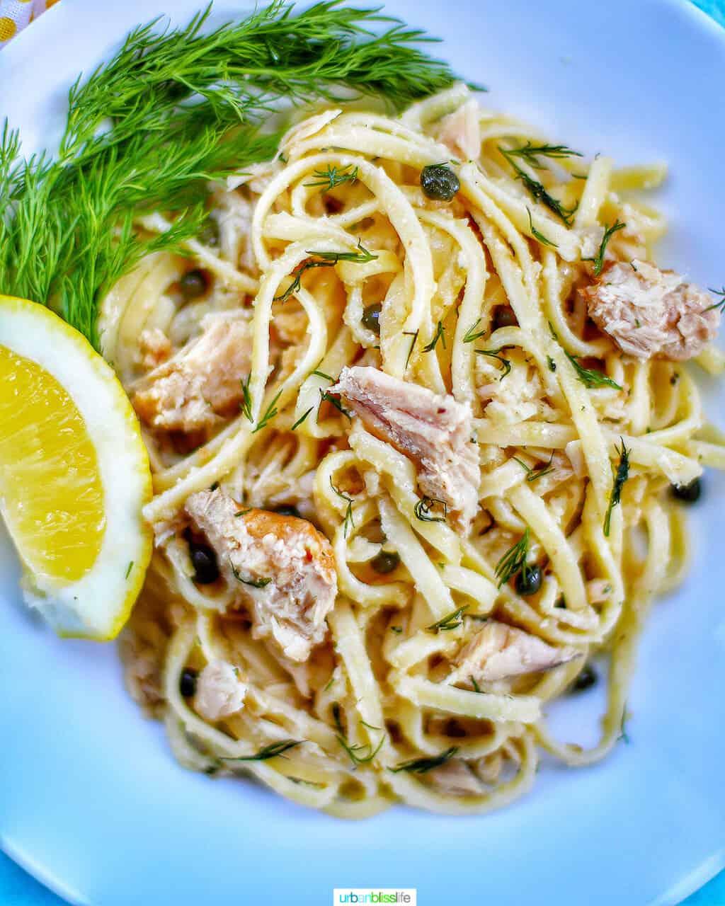 bowl of tuna pasta