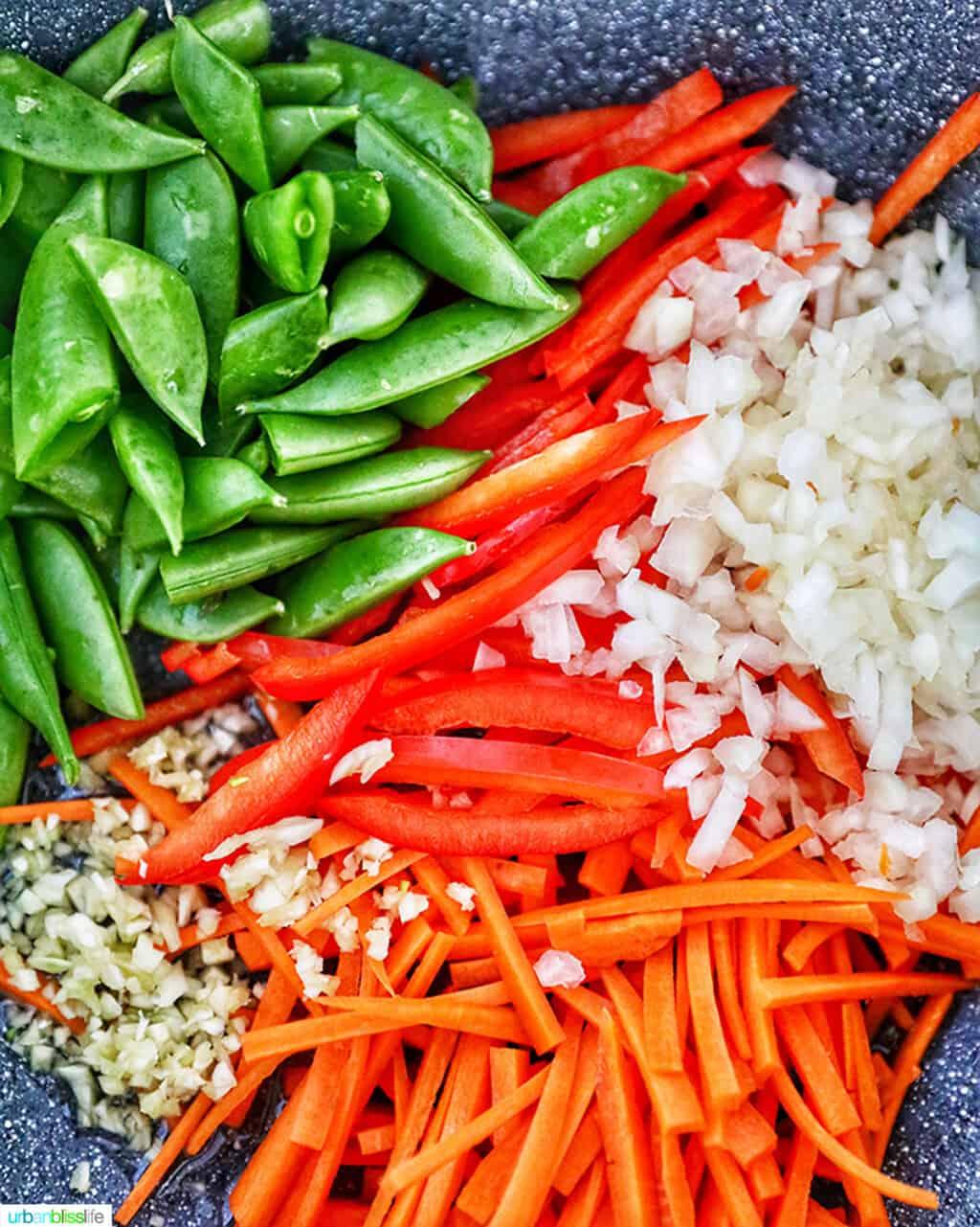 veggies for Filipino Pancit Bihon
