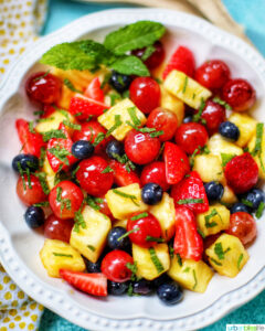 bowl of simple fruit salad