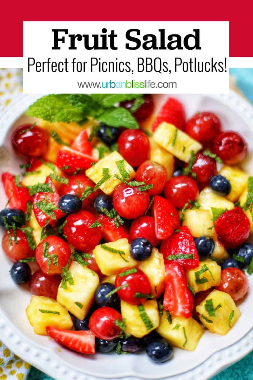 fruit salad with text overlay