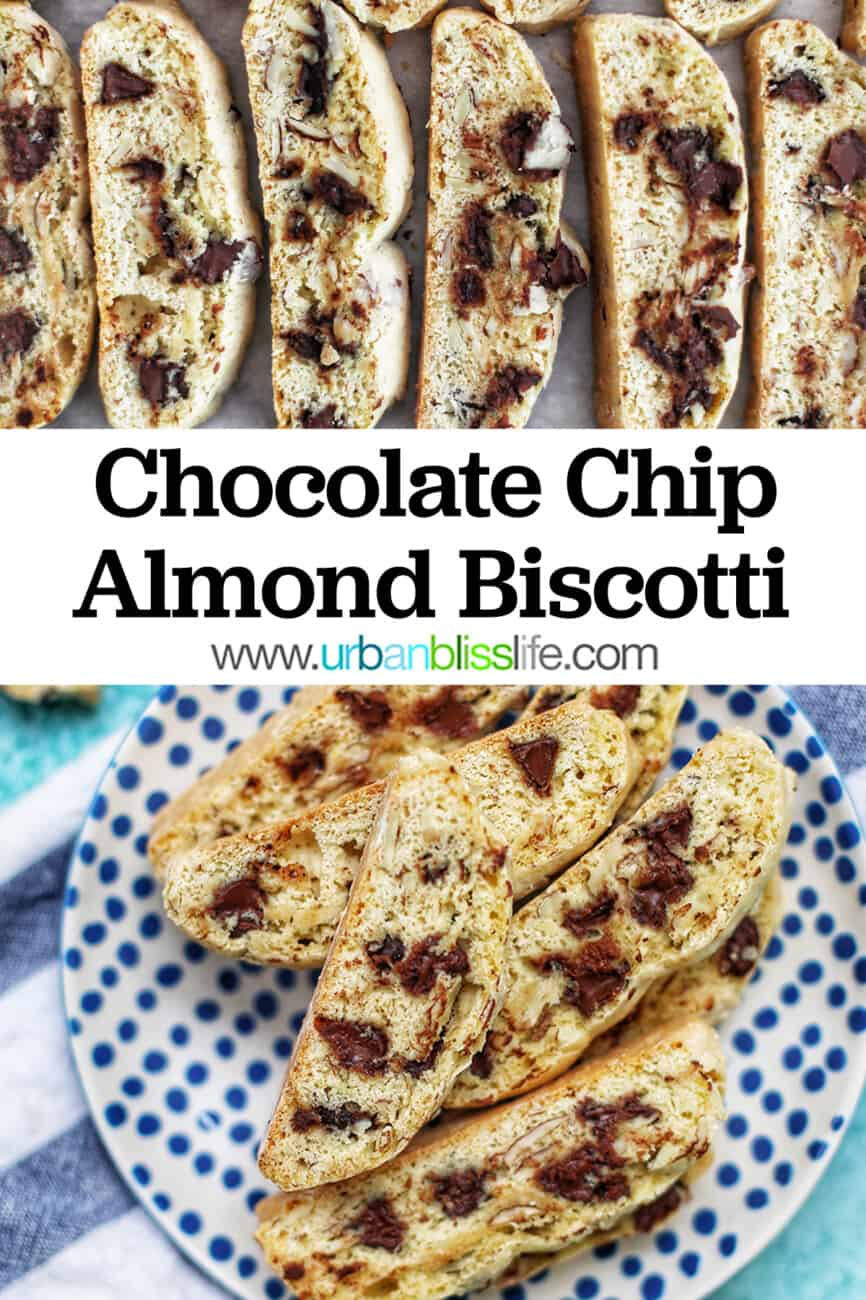 chocolate chip biscotti with text overlay