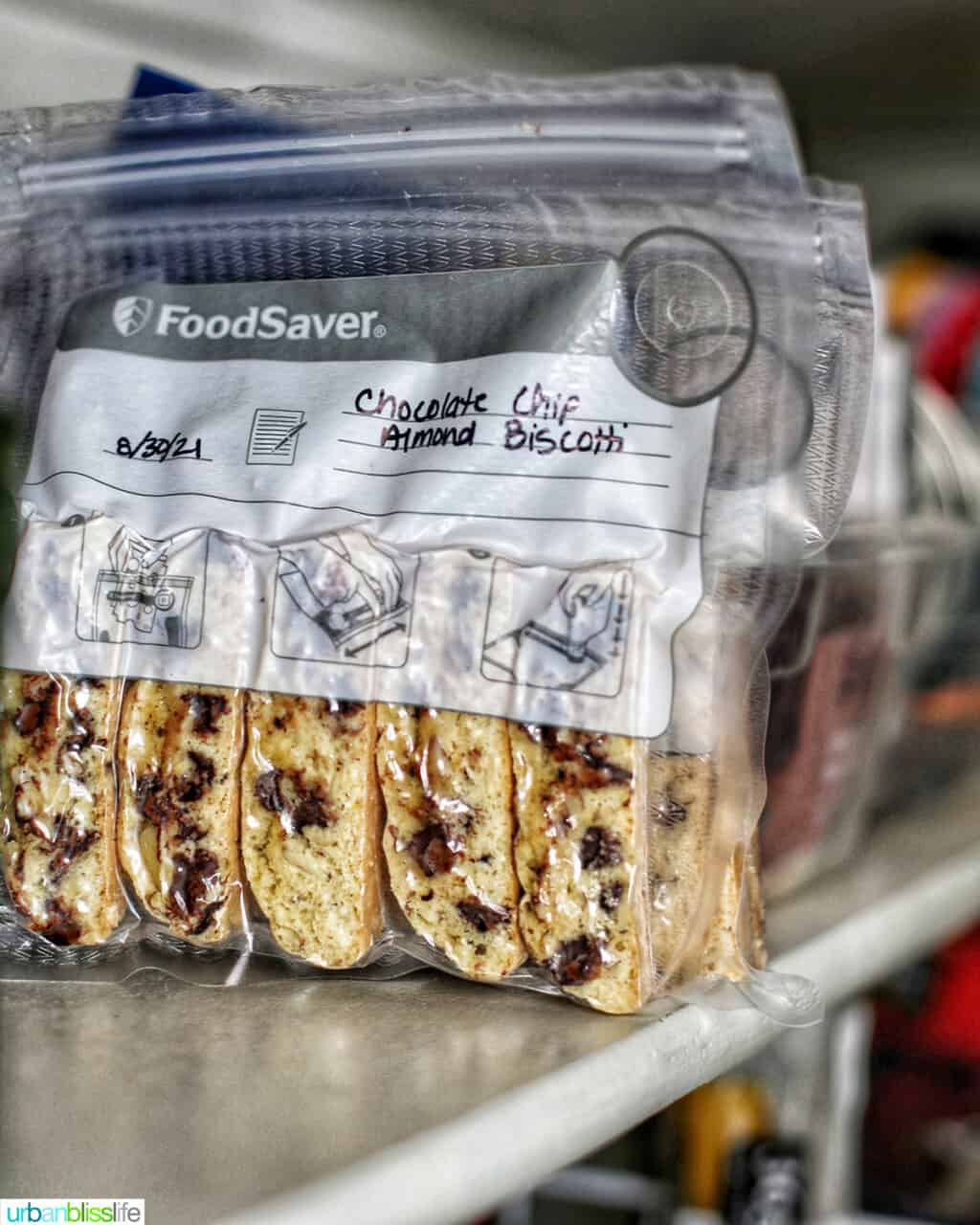 biscotti in bags in the pantry