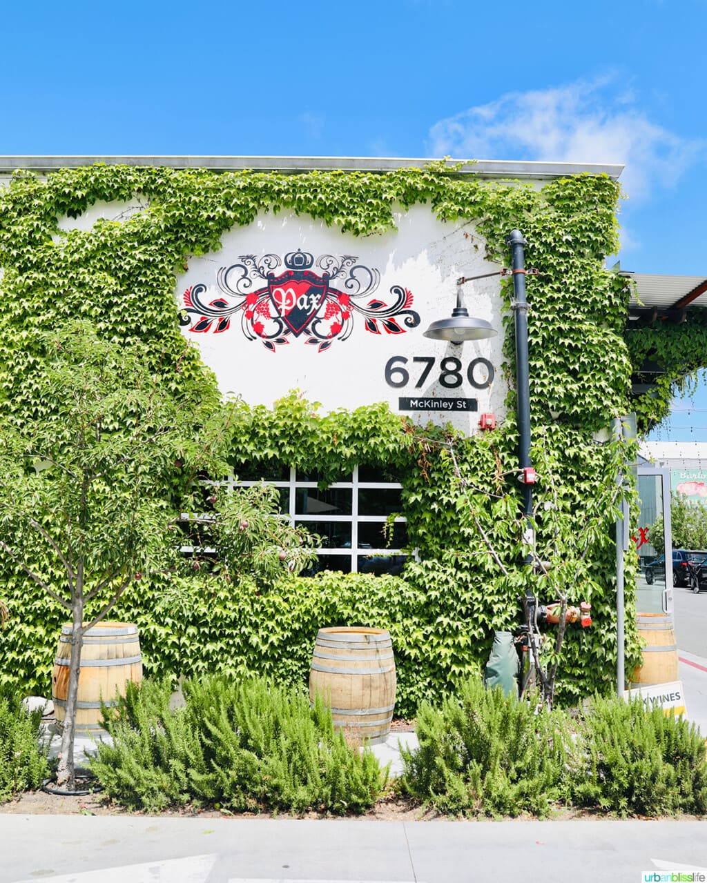 Pax wine bar exterior at the Barlow in Sebastopol