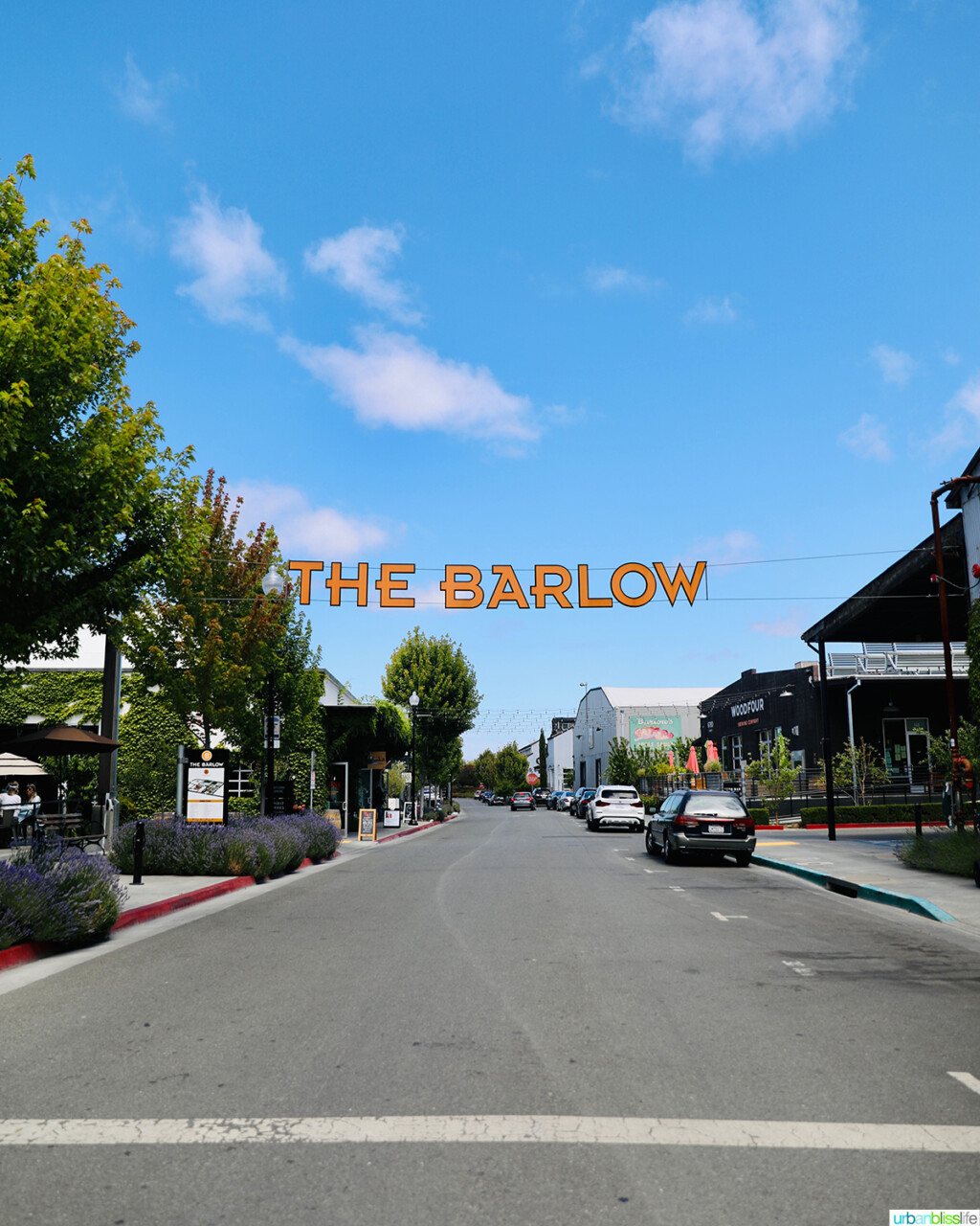 The Barlow sign on street