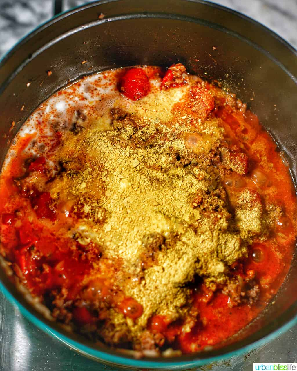 adding nutritional yeast to meat sauce