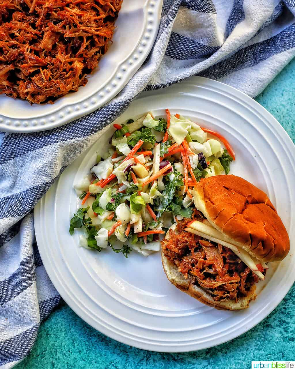 instant pot pulled pork sandwiches with slaw