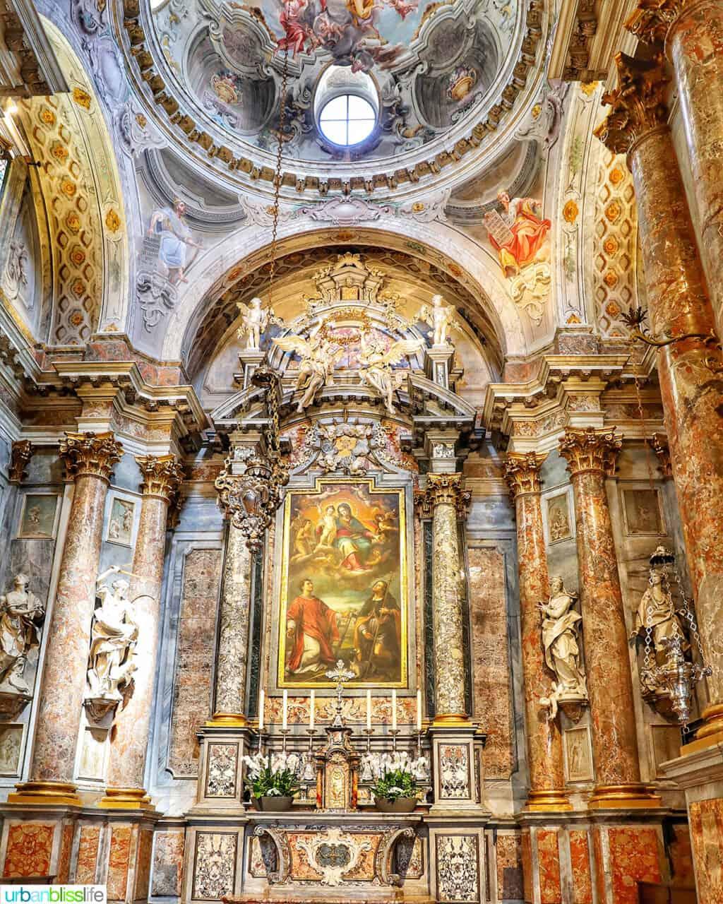 ornate church in Lugano, Switzerland