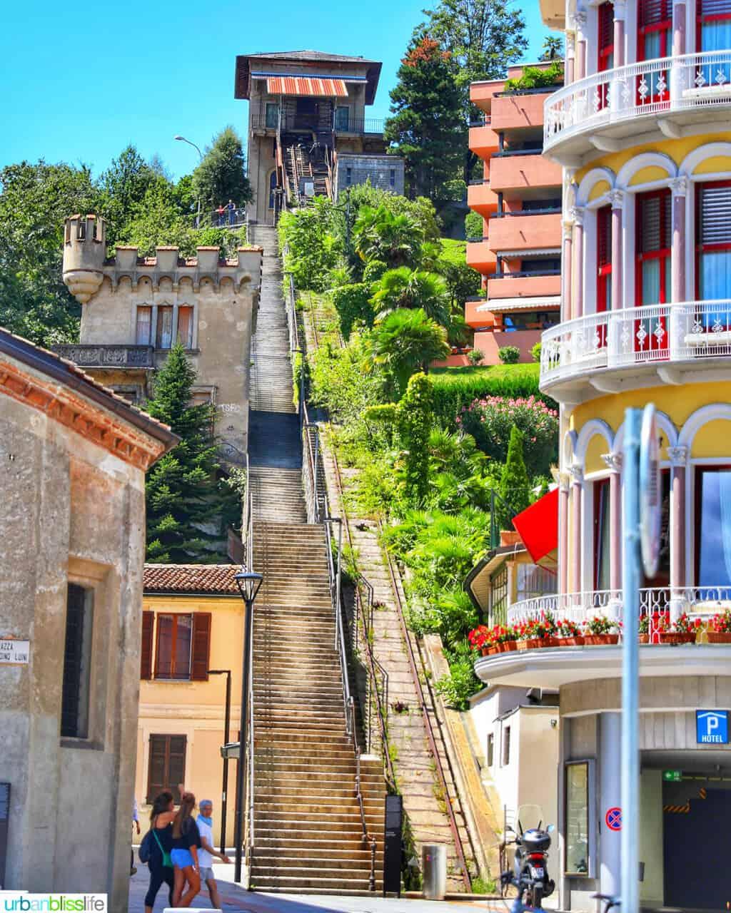 steep steps in Lugano, Switzerland