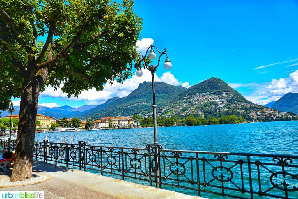 beautiful Lake Lugano Switzerland