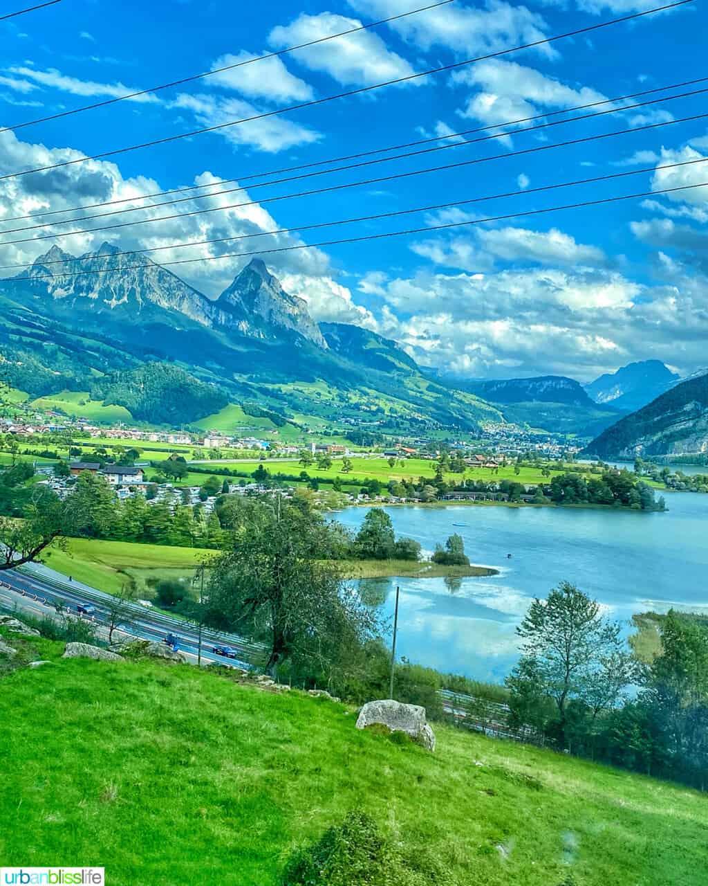 Switzerland train scenery from Lugano to Zurich