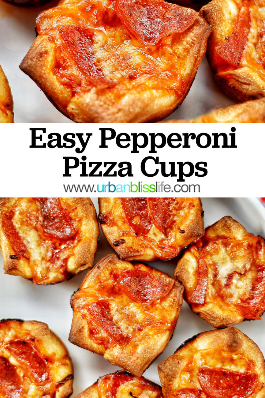 pepperoni pizza cups with text overlay