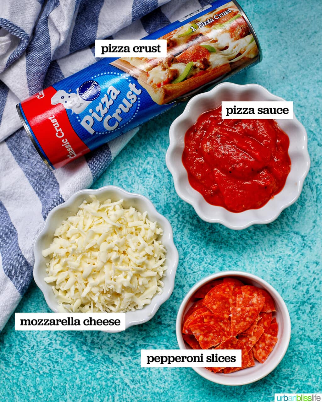 ingredients for pizza cups