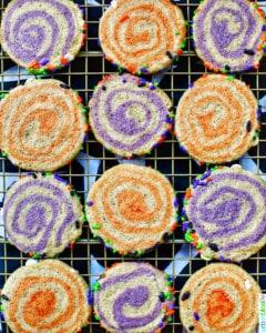 Halloween Pinwheel Cookies